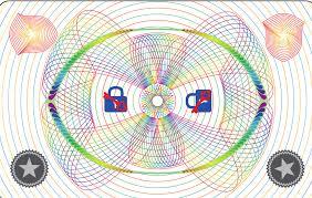 "DuraGard, OptiGram(R) Laminate, 0.6 mil, ""Geometric Curves"" Full Card with Smart Card Window"