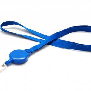 Cordon avec ZIP Enrouleur - Bleu