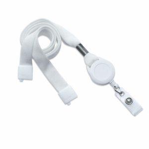 Cordon avec ZIP Enrouleur - Blanc